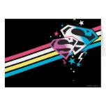 Rayas del arco iris de Supergirl Felicitacion