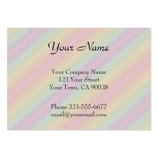 Rayas del arco iris del amarillo del rosa en color tarjetas de visita