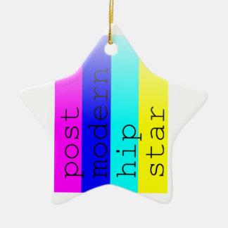 Rayas del arco iris del inconformista adorno de cerámica en forma de estrella