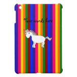 Rayas del arco iris del unicornio iPad mini carcasa