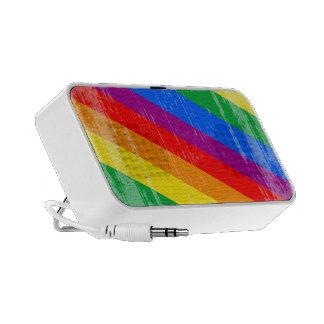 Rayas del arco iris del vintage altavoz