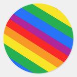 Rayas del arco iris etiquetas redondas