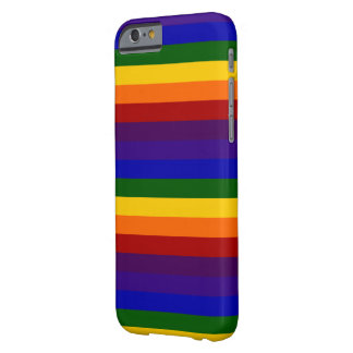 Rayas del arco iris funda barely there iPhone 6