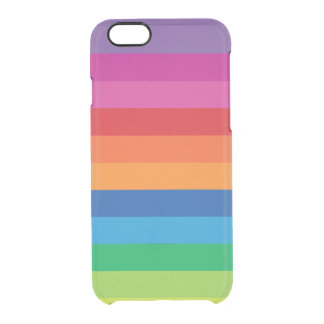 Rayas del arco iris funda clear para iPhone 6/6S