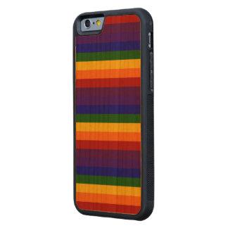 Rayas del arco iris funda de iPhone 6 bumper cerezo