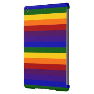 Rayas del arco iris funda para iPad air