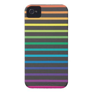 rayas del arco iris iPhone 4 cárcasa
