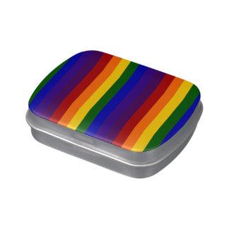 Rayas del arco iris jarrones de dulces