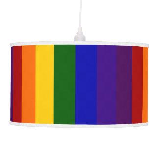Rayas del arco iris lámpara de techo