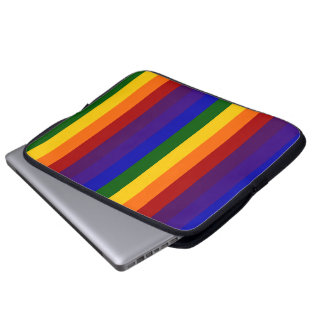 Rayas del arco iris manga portátil