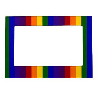 Rayas del arco iris marcos magnéticos