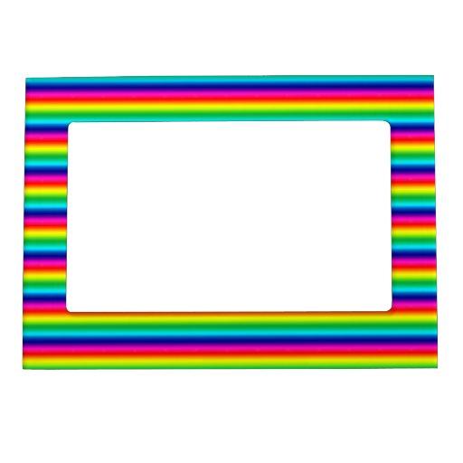 Rayas del arco iris marcos magnéticos de fotos