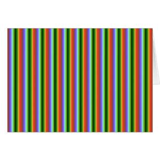 Rayas del arco iris. Modelo multicolor de la diver Felicitación
