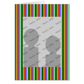 Rayas del arco iris. Modelo multicolor de la diver Tarjetas