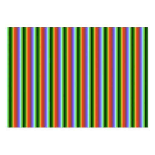 Rayas del arco iris. Modelo multicolor de la Tarjetas De Visita Grandes