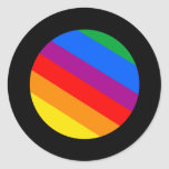 Rayas del arco iris pegatinas redondas