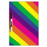 Rayas del arco iris pizarras blancas