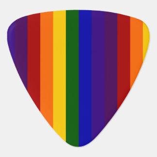 Rayas del arco iris plumilla de guitarra