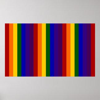 Rayas del arco iris póster
