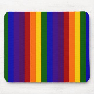 Rayas del arco iris tapetes de ratón