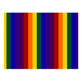 Rayas del arco iris tarjetas postales