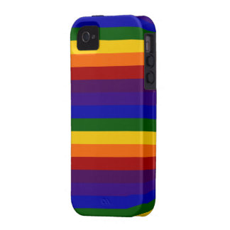 Rayas del arco iris vibe iPhone 4 carcasas