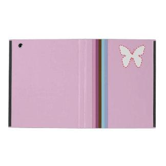 rayas del arco iris y caso rosado del iPad 2/3/4 d