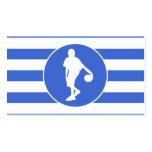 Rayas del azul real y del blanco; Baloncesto Tarjeta De Visita