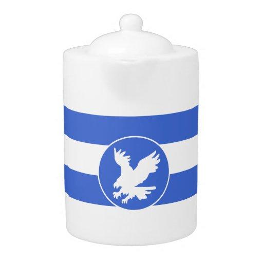 Rayas del azul real y del blanco; Eagle