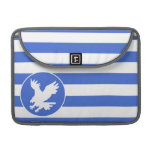 Rayas del azul real y del blanco; Eagle Funda Macbook Pro