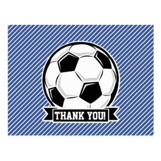 Rayas del balón de fútbol, azules y blancas, postales