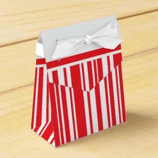 Rayas del bastón de caramelo cajas para detalles de boda
