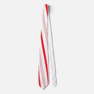 Rayas del bastón de caramelo corbatas personalizadas