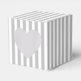 Rayas del bastón de caramelo del navidad en blanco caja para regalos