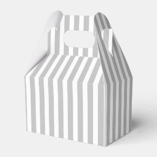 Rayas del bastón de caramelo del navidad en blanco caja para regalos de fiestas