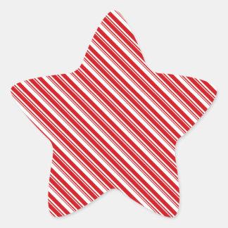 Rayas del bastón de caramelo colcomanias forma de estrellaes personalizadas