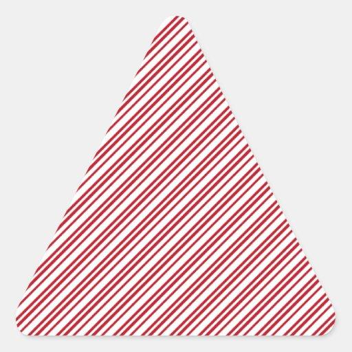 Rayas del bastón de caramelo calcomania trianguladas personalizadas
