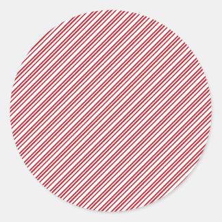Rayas del bastón de caramelo etiquetas redondas