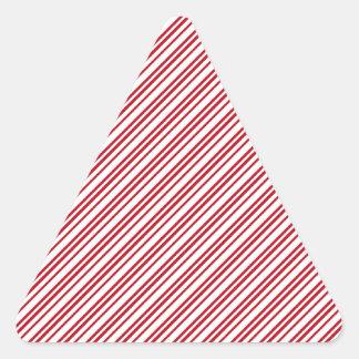 Rayas del bastón de caramelo pegatina triangular