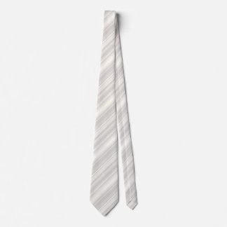Rayas del beige del monograma corbata personalizada