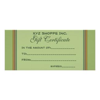 Rayas del biege del verde del vale diseño de tarjeta publicitaria