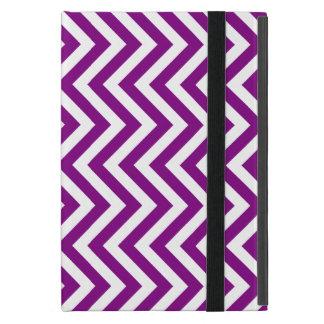 Rayas del blanco y de la púrpura o de los zigzags iPad mini coberturas