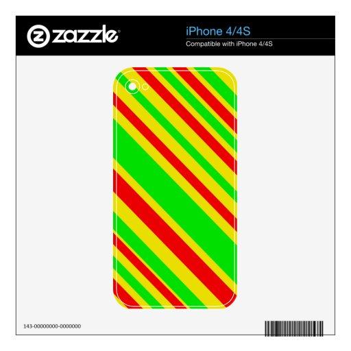 Rayas del caramelo de Rasta Calcomanía Para iPhone 4