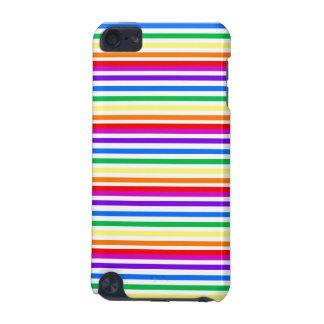 Rayas del caramelo del arco iris funda para iPod touch 5G