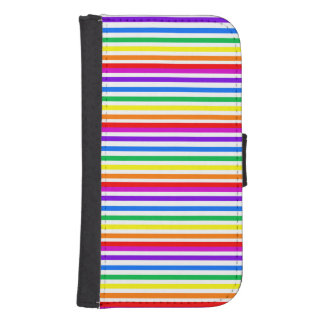 Rayas del caramelo del arco iris cartera para teléfono