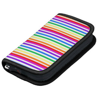 Rayas del caramelo del arco iris organizador