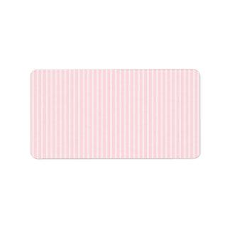 Rayas del caramelo del rosa en colores pastel etiqueta de dirección