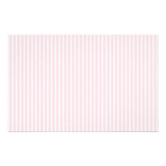 Rayas del caramelo del rosa en colores pastel flyer a todo color
