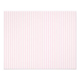 Rayas del caramelo del rosa en colores pastel flyer personalizado