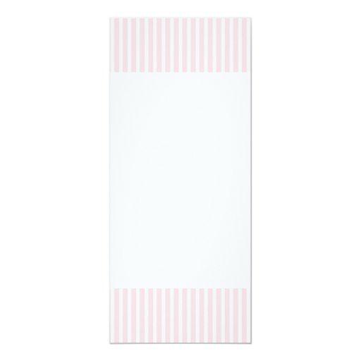 Rayas del caramelo del rosa en colores pastel invitación 10,1 x 23,5 cm